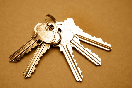 Pięć kluczy do drzwi Zdjęcie Seryjne