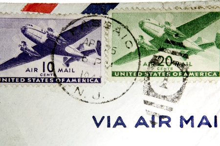 stamp collecting: Airmail stamps