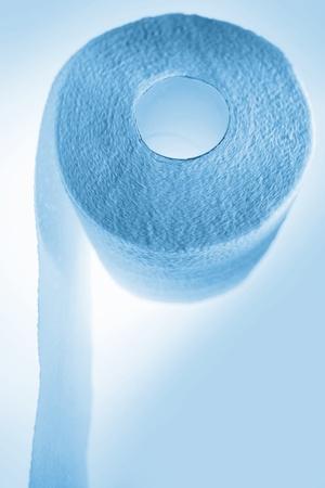 Toilet tissue, blue tone Stock Photo - 10026426