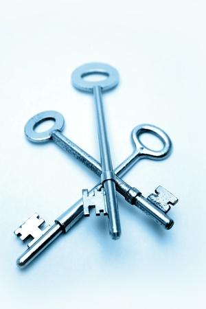 mistrust: Three keys Stock Photo