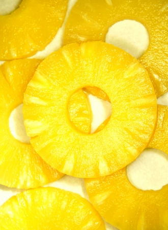 pineapple slice: Pineapple slices Stock Photo