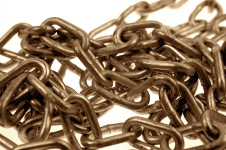 chainlinks: Closeup of chainlinks Stock Photo
