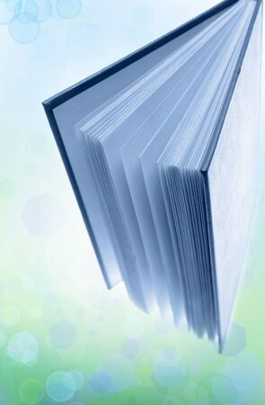Closeup of open book standing up Stock Photo - 10383933