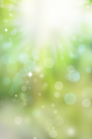 light burst: Abstract green and blue background Stock Photo