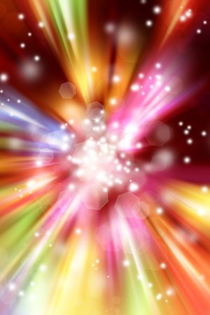 color effect: Bright blast of light background Stock Photo