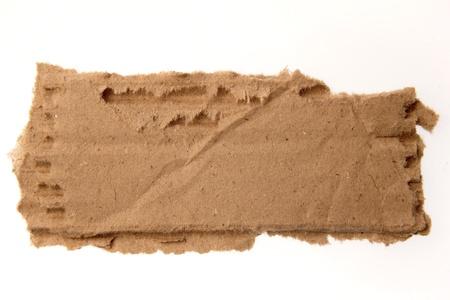 cardboard: Carton d�chir� sur fond uni