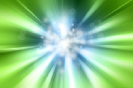 cosmic rays: Abstract green and blue background Stock Photo