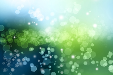 Abstract green and blue lights background photo