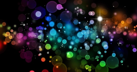 blurred lights: Abstract color blurs on dark background