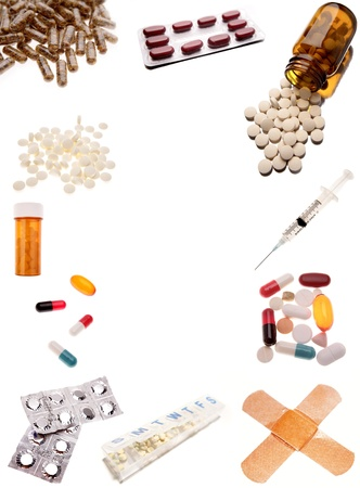 painkillers: Pharmaceutical products on plain background