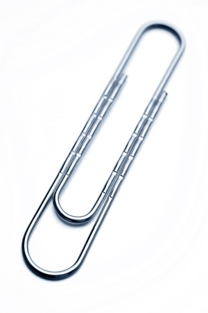 Paper-clip isolated on white background