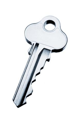 distrust: Key on plain background