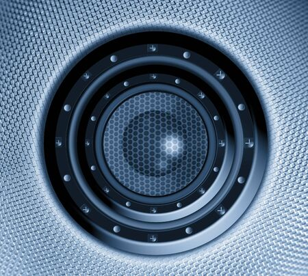 Closeup of stereo loud speaker Stock Photo - 10595620