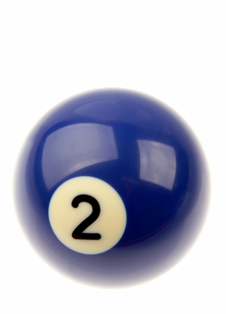 Pool ball isolated over plain background  photo