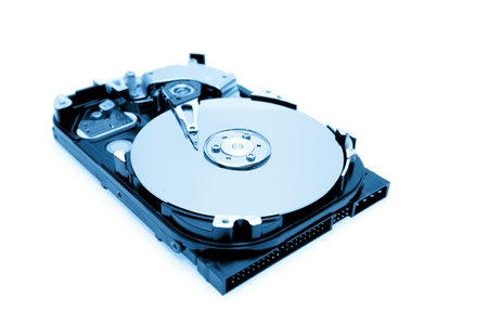 hard drive: Computer hard-drive on plain background