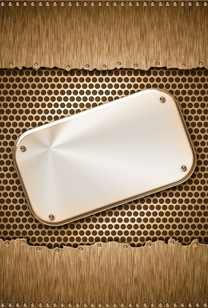 solidity: Steel plate on grungy background