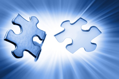Jigsaw puzzle piece next to gap Stock Photo - 10642077