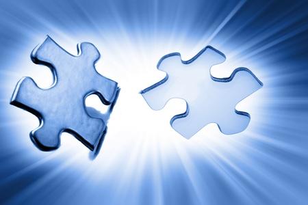Jigsaw puzzle piece next to gap Stock Photo - 10642077