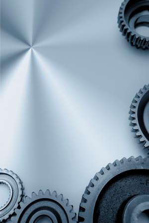 cogwheels: Cogwheels on steel Stock Photo