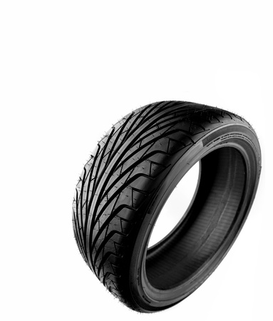 Auto tyre isolated on plain background Stock Photo - 10671438