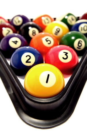 Closeup of pool balls photo