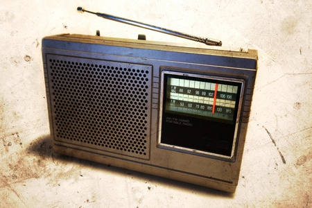 Old retro radio  Stock Photo - 10671443