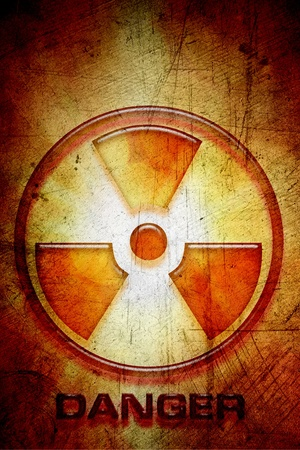 Nuclear waste: Radioactive warning sign of danger