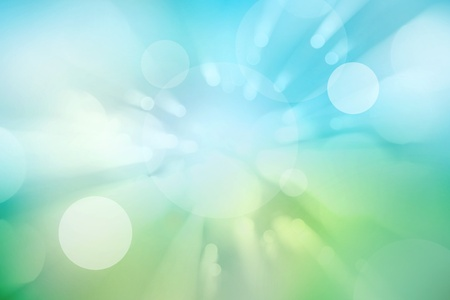 paranormal: Abstract green and blue lights background
