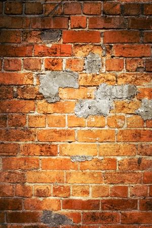 brick: Nahaufnahme der Ziegel in der Wand