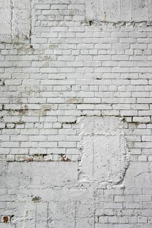 brique: Blocs blancs sur mur du b�timent