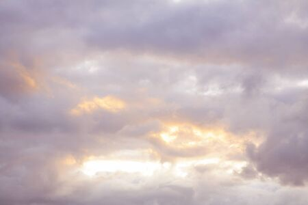 sunsets: Soft colors in a beautiful sky Stock Photo