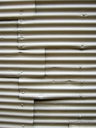 corrugated steel: Closeup of lines in corrugated metal Stock Photo