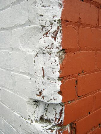Closeup of bricks in wall photo