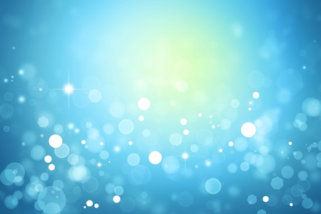 Stars sparkling on blue background Stock Photo - 11188555