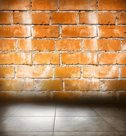 Piso de concreto y la pared. Espacio de la copia