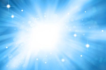 Stars sparkling on blue background Stock Photo - 11188591