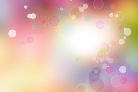 spiritual background: Circles on abstract blurred background Stock Photo