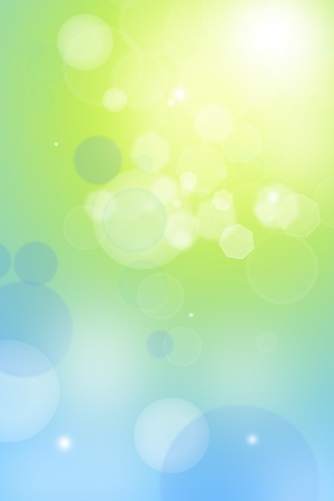 blurry lights: Abstract green and blue background Stock Photo