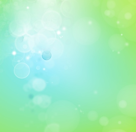 blurred lights: Abstract green and blue background Stock Photo