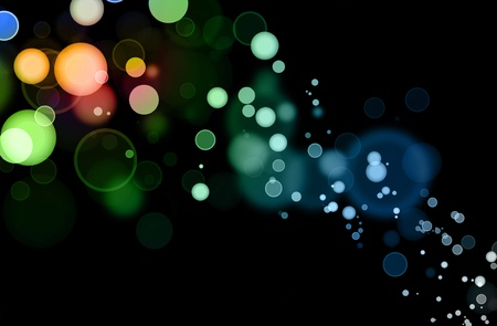 blurry lights: Abstract color blurs on dark background