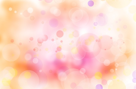 defocussed: Circles pink and orange background Stock Photo
