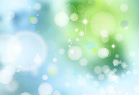 Resumen de fondo verde y azul