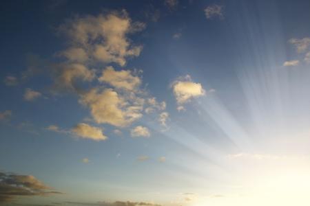 sunsets: Bright sunset sky. Copy space Stock Photo