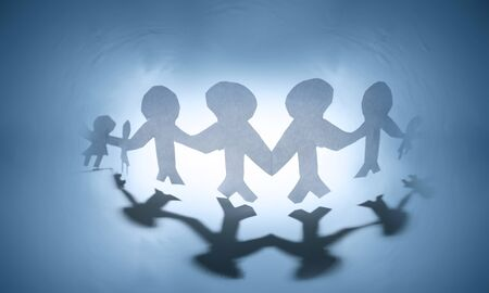 Group of people holding hands Stock Photo - 11282319