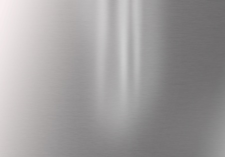 Shiny stainless steel horizontal background photo