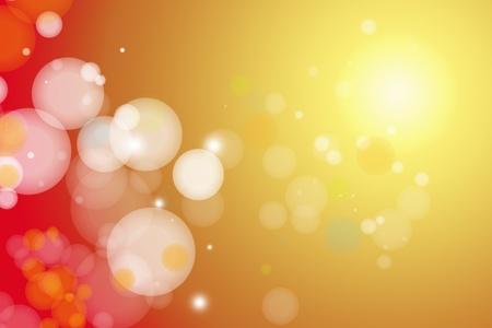 sol radiante: C�rculos sobre fondo amarillo y rojo