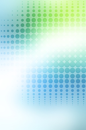 halftone dots: Abstract green and blue background Stock Photo