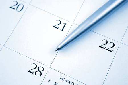 calender: Pen on calendar page