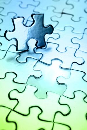 missing piece: �ltima pieza del puzzle Foto de archivo