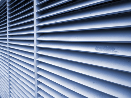 Lines of air vent on building   Stock Photo